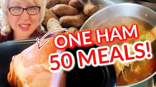 Make 50 MEALS From ONE HAM   EASY Large Family MEALS on a BUDGET   What's for Dinner!