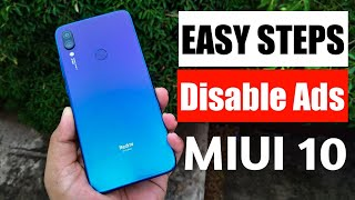 How to disable Ads in MIUI 10|Easy Steps to Remove Ads in Redmi note 7 & Note 7 Pro.