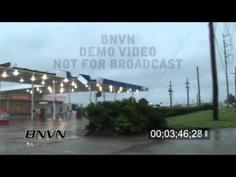 Hurricane Gustav Video, Houma, LA 9/1/2008 - CC 1