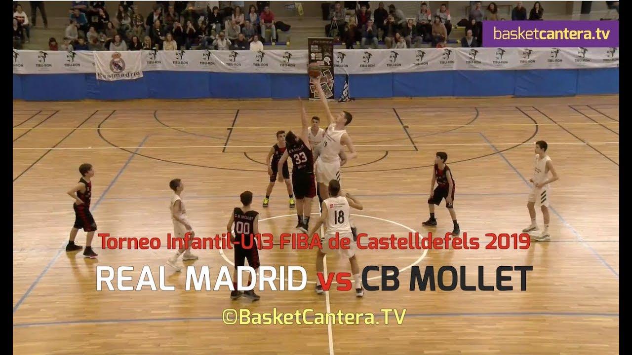 U13M - REAL MADRID vs CB MOLLET.- Torneo Infantil Fiba Castelldefels 2019 (BasketCantera.TV)