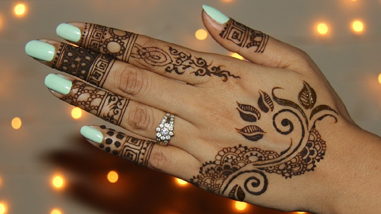 How To Draw Unique Henna Mehendi Design Youtube
