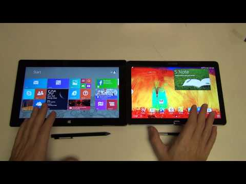 Microsoft Surface Pro 2 vs Samsung Galaxy Note 10.1 2014 Edition