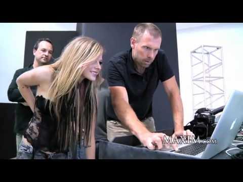 Celebrity Avril Lavigne - Maxim Photoshoot 2010 - Topless Maxim Avril Lavigne ® video