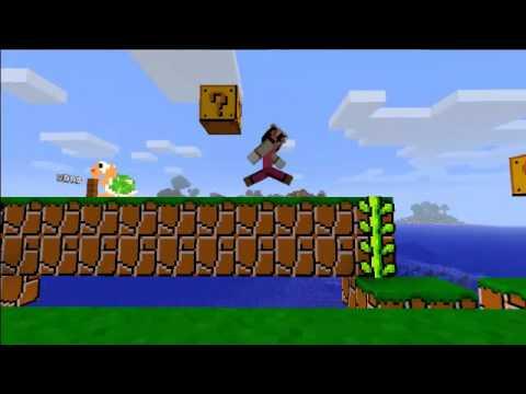 Let ´s Minecraft Mario Adventure Third-Person-View Level 1-1