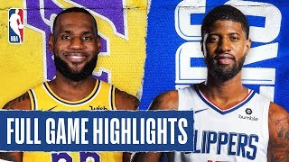 LAKERS at CLIPPERS | FULL GAME HIGHLIGHTS | March 8, 2020