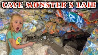 Cave Monster's Lair!!! We Track the Pond Monster to an Abandoned Cave in the Middle of Nowhere!