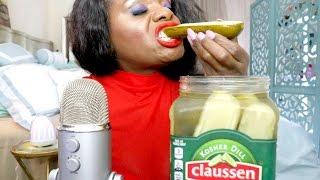 Pickle ASMR Eating Sounds/BIG Crunch/Intense | Spirit Payton