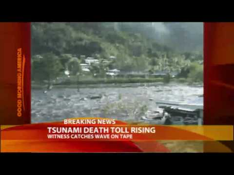 Tsunami Witness Catches Surge on Tape