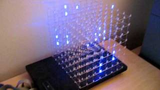 LED Cube 8x8x8 running on an Arduino