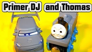 Pixar Cars Primer DJ with Primer Lightning and Primer Thomas The Tank Engine