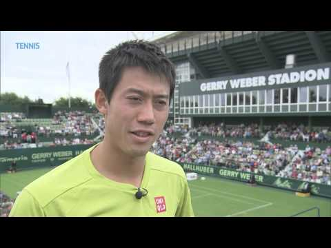 Kei Nishikori Excited To Hit The Grass - Halle 2015