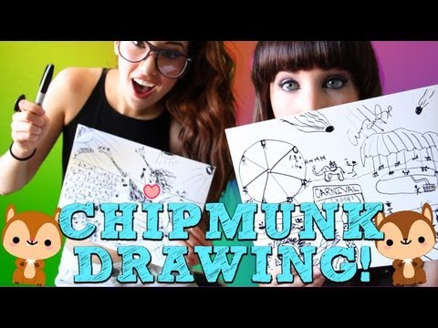 CHIPMUNK DRAWING TIME!