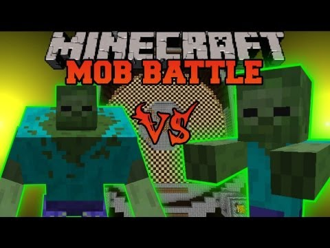 MUTANT ZOMBIE VS. GIANT ZOMBIE - Minecraft Mob Battles - Arena Battle - Mutant C