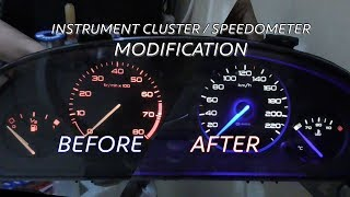How To Modify Instrument Cluster Speedometer - PEUGEOT 406