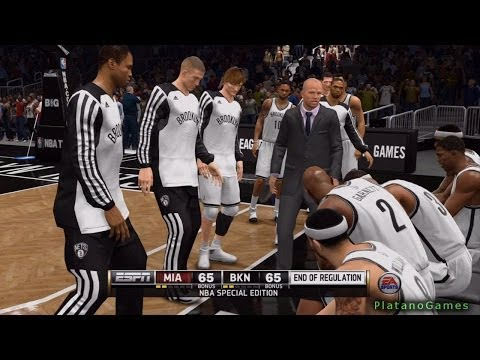NBA Live 14 Playoffs - Miami Heat vs Brooklyn Nets - Game 3 - Halftime Show - HD