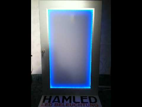 plexiglas in einer schrankt r mit led beleuchtung youtube. Black Bedroom Furniture Sets. Home Design Ideas