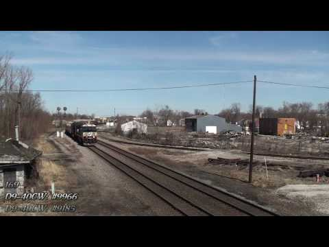 Marion, Ohio Railfanning. Part One (HD) Video