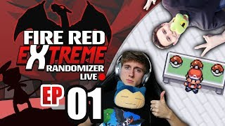 LOL WE LOST!? LIVE 🔴 Pokemon Fire Red EXTREME Randomizer Nuzlocke Live Part 1