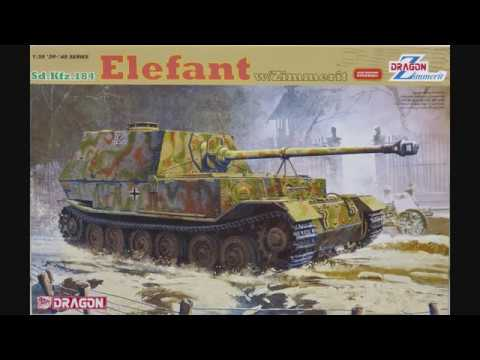 1/35 Dragon Sd.Kfz.184 Elefant w/Zimmerit Kit# 6465