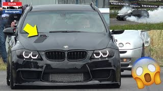900HP BMW 335i Touring IS BACK with HOOD EXHAUST! - CRAZY BURNOUTS!
