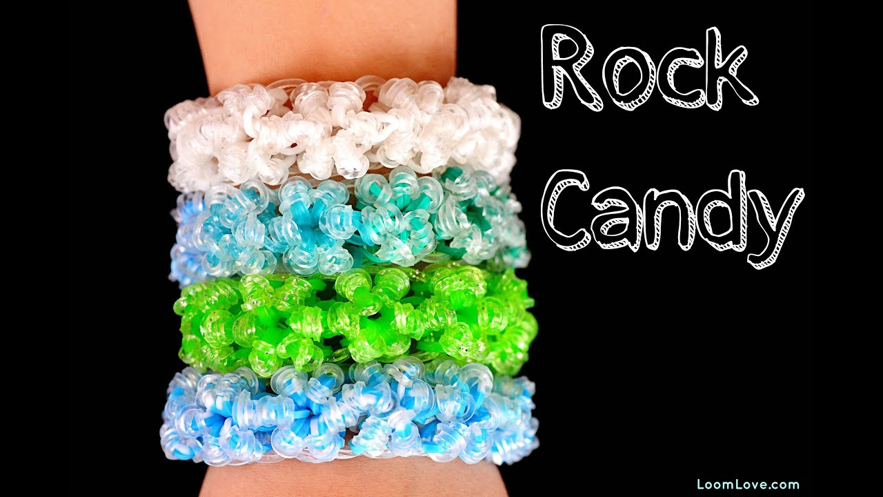how to make the rainbow loom rock bracelet