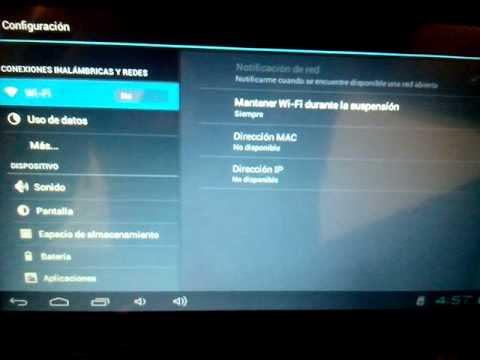 Error en tablet no se activa wifi