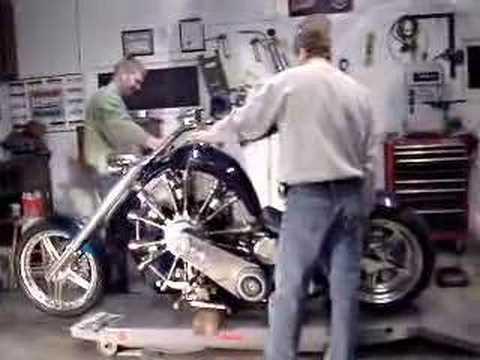 Radial engine motorcycle