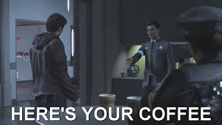DETROIT BECOME HUMAN - What Happens If You Give Gavin Coffee? / Cute Connor Moments