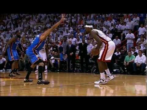 """Leg Cramps"" LeBron James Hits Clutch 3 (2012 NBA Finals Game 4) [HD]"