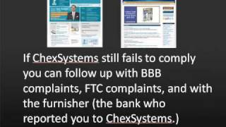 Clear Your ChexSystems File