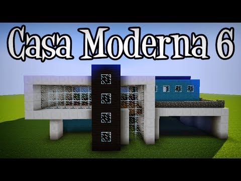 Tutoriais minecraft como construir a casa moderna 6 youtube for Casas modernas 6 minecraft