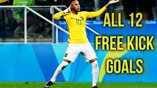 Neymar Jr - All 12 Free Kick Goals | 2011 - 2016 | HD