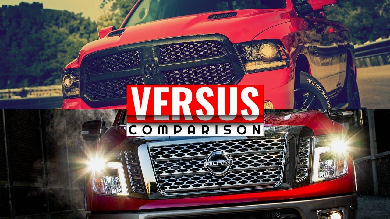 2016 Titan XD Diesel VS Dodge RAM 1500 EcoDiesel    Visual ...