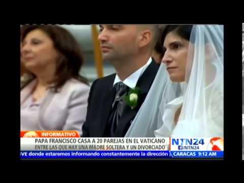Ceremonia histórica: Papa Francisco oficia los primeros matrimonios de su Pontificado
