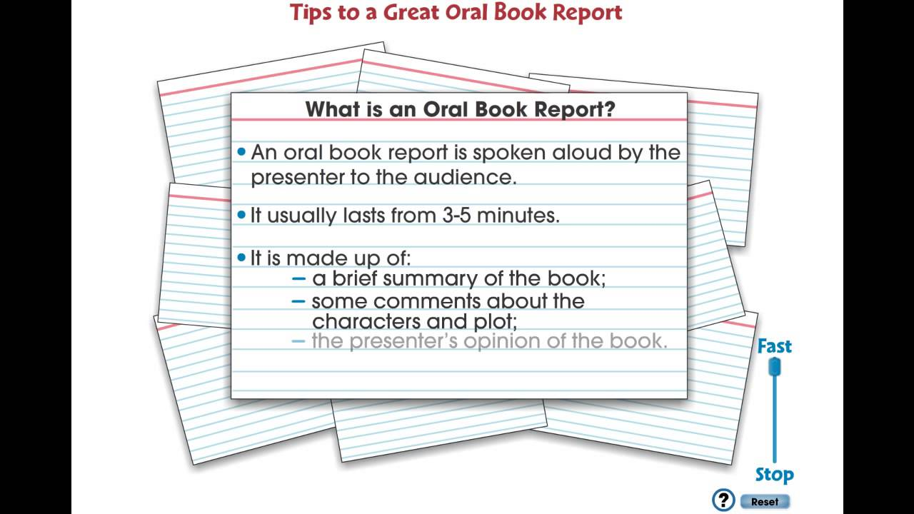 oral report colleges