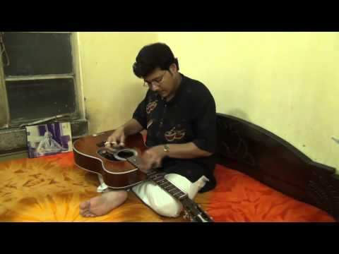 RIM JHIM GIRE SAWAN BY PRAMIT DAS ON HAWAIIAN STEEL GUITAR.avi...
