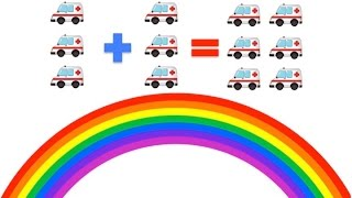 Learn to Add, Basic Maths for Young Kids (Plus 3) | Rainbow Learning