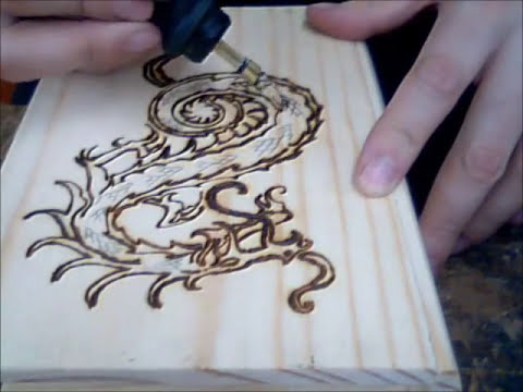 Pyrography Dragon