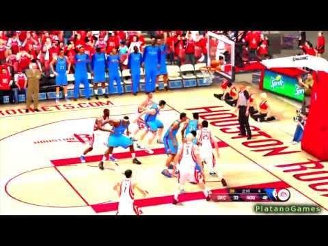 NBA Playoffs 2013 - Oklahoma City Thunder vs Houston Rockets - Game 4 - 2nd Half - NBA Live 13 - HD