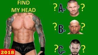 WWE QUIZ - Only True WWE Fans Can Find WWE Superstars HEAD [HD]