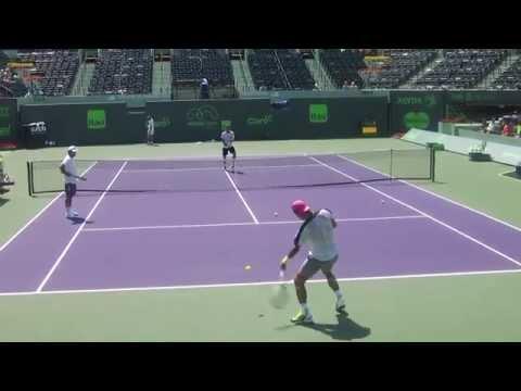 Rafael Nadal Practice MIAMI OPEN 2015