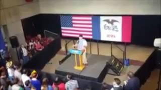 Hillary Clinton rally speaker goes rogue!