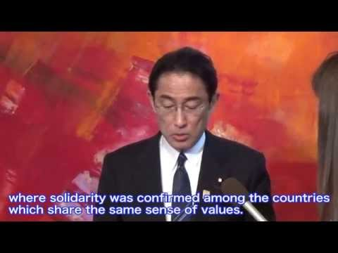 Foreign Minister Fumio Kishida Attends G7 Foreign Ministers' Meeting