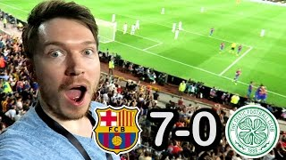 Barcelona vs Celtic 7 - 0 REACTION Champions League 2016 VLOG VIP Silver Seats