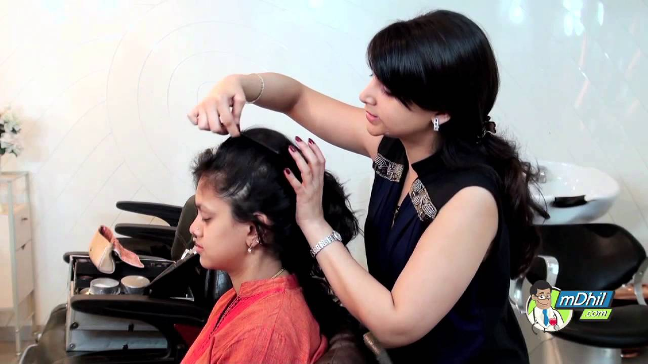 Saree hairstyle in tamil