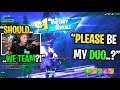 This kid TRIED OUT to be my Fortnite World Cup duo partner NEXT YEAR... (should WE TEAM?)