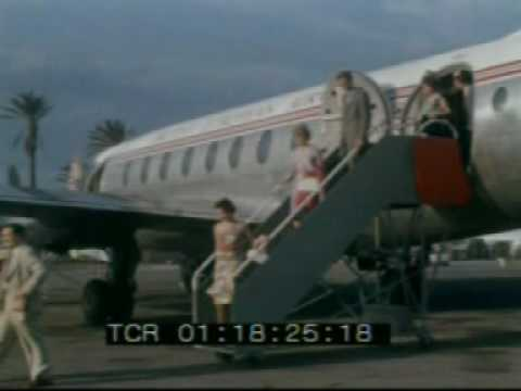 1950s British European Airways, glamour days of 1950's airports, ...