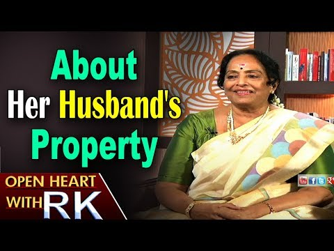 Senior Actress K R Vijaya about her Husband's Property | Open Heart with RK