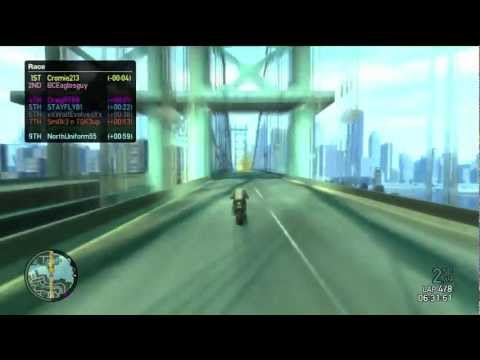 Grand Theft Auto 4 Multiplayer Race – Round the Block