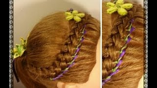 Encintado Para Peinado de Niña - Ribbon Weave for Girl